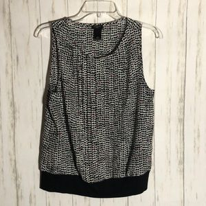 Ann Taylor dotted blouse size S